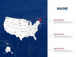 Maine Map Powerpoint Presentation PPT Template