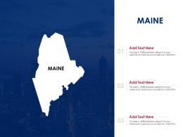 Maine Powerpoint Presentation PPT Template