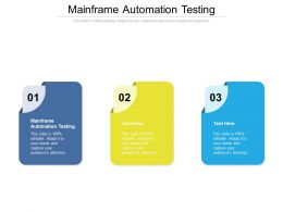 Mainframe Automation Testing Ppt Powerpoint Presentation Summary Slides Cpb