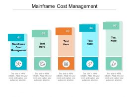 Mainframe Cost Management Ppt Powerpoint Presentation Ideas Examples Cpb