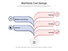Mainframe Cost Savings Ppt Powerpoint Presentation Layouts Samples Cpb