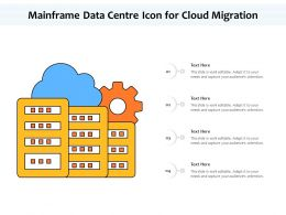 Mainframe Data Centre Icon For Cloud Migration