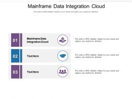 Mainframe Data Integration Cloud Ppt Powerpoint Presentation Ideas Picture Cpb