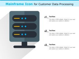 Mainframe Icon For Customer Data Processing