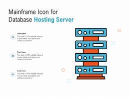 Mainframe Icon For Database Hosting Server