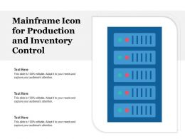 Mainframe Icon For Production And Inventory Control