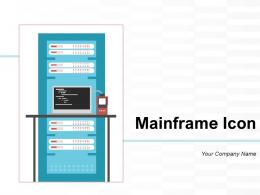 Mainframe Icon Transaction Customer Production Illustrating Inventory Processing
