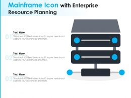Mainframe Icon With Enterprise Resource Planning