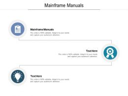 Mainframe Manuals Ppt Powerpoint Presentation Infographics Structure Cpb