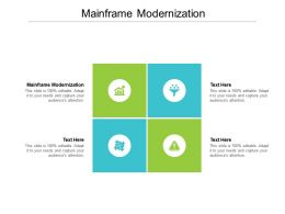 Mainframe Modernization Ppt Powerpoint Presentation Layouts Graphics Pictures Cpb