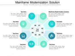 Mainframe Modernization Solution Ppt Powerpoint Presentation File Slide Download Cpb