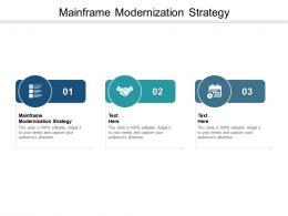 Mainframe Modernization Strategy Ppt Powerpoint Presentation Show Topics Cpb