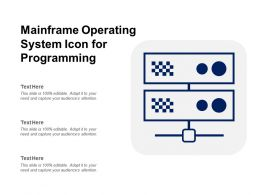 Mainframe Operating System Icon For Programming