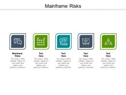 Mainframe Risks Ppt Powerpoint Presentation Summary Background Image Cpb