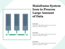 Mainframe System Icon To Process Large Amount Of Data