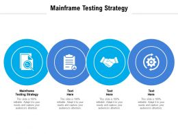 Mainframe Testing Strategy Ppt Powerpoint Presentation Pictures Layout Ideas Cpb