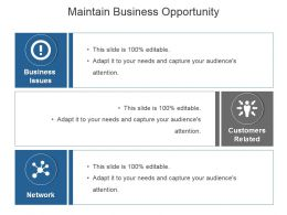 Maintain Business Opportunity Powerpoint Slide Design Ideas