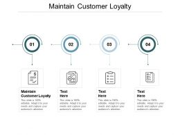 Maintain Customer Loyalty Ppt Powerpoint Presentation Layouts Format Cpb