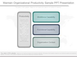 Maintain Organizational Productivity Sample Ppt Presentation