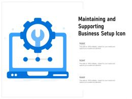 Maintaining And Supporting Business Setup Icon