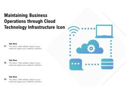 Maintaining Business Operations Through Cloud Technology Infrastructure Icon