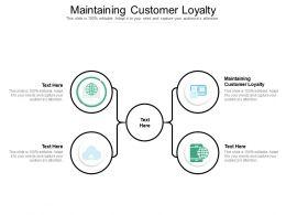 Maintaining Customer Loyalty Ppt Powerpoint Presentation Ideas Visuals Cpb