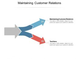 Maintaining Customer Relations Ppt Powerpoint Presentation Infographics Show Cpb