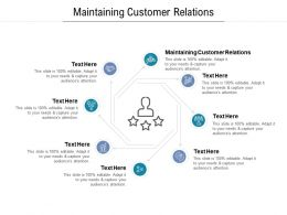Maintaining Customer Relations Ppt Powerpoint Presentation Portfolio Sample Cpb