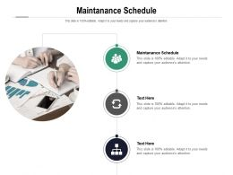 Maintanance Schedule Ppt Powerpoint Presentation Layouts Clipart Images Cpb