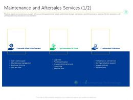 Maintenance And Aftersales Services Upgrades Ppt Powerpoint Presentation Microsoft