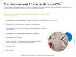 Maintenance And Aftersales Services Year Clean Production Innovation Ppt Ideas Gridlines
