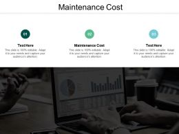 Maintenance Cost Ppt Powerpoint Presentation Styles Influencers Cpb