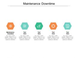 Maintenance Downtime Ppt Powerpoint Presentation Layouts Infographic Template Cpb