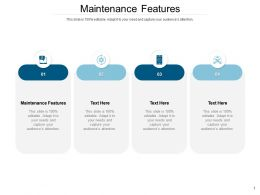 Maintenance Features Ppt Powerpoint Presentation Summary Maker Cpb