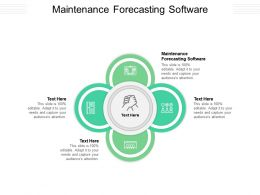 Maintenance Forecasting Software Ppt Powerpoint Presentation Model Pictures Cpb