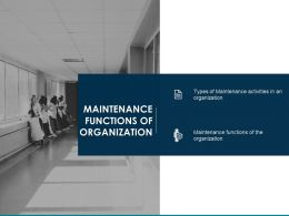Maintenance Functions Of Organization Maintenance Activities Ppt Powerpoint Slides