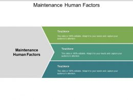 Maintenance Human Factors Ppt Powerpoint Presentation Icon Graphics Cpb
