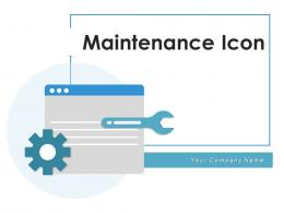 Maintenance Icon Database Service Gears Industrial Equipment