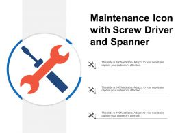 Maintenance Icon With Screw Driver And Spanner