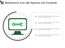 Maintenance Icon With Spanner And Computer