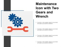 Maintenance Icon With Two Gears And Wrench