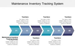 Maintenance Inventory Tracking System Ppt Powerpoint Presentation Designs Cpb
