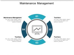 Maintenance Management Ppt Powerpoint Presentation Styles Outline Cpb