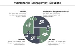 Maintenance Management Solutions Ppt Powerpoint Presentation Pictures Summary Cpb