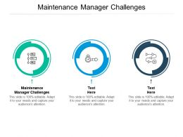 Maintenance Manager Challenges Ppt Powerpoint Presentation Model Graphics Cpb