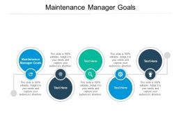 Maintenance Manager Goals Ppt Powerpoint Presentation Model Gallery Cpb