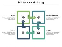 Maintenance Monitoring Ppt Powerpoint Presentation Styles Influencers Cpb