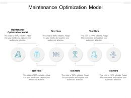 Maintenance Optimization Model Ppt Powerpoint Presentation File Graphics Example Cpb