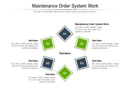 Maintenance Order System Work Ppt Powerpoint Presentation Icon Mockup Cpb