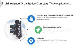 Maintenance Organization Company Wide Application Priority Service Standard